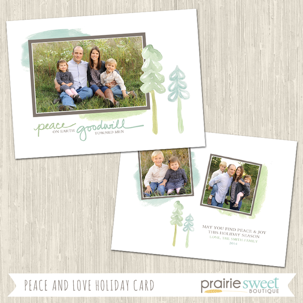 PEACE ON EARTH | Peace and Love Holiday Card