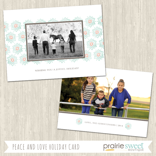 SNOWFLAKE | Peace and Love Holiday Card