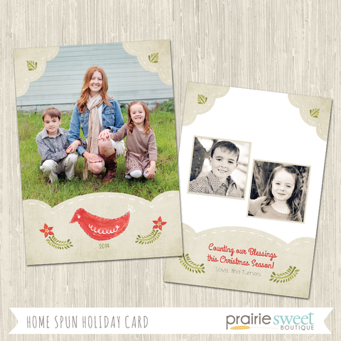 BIRD | Home Spun Holiday Card