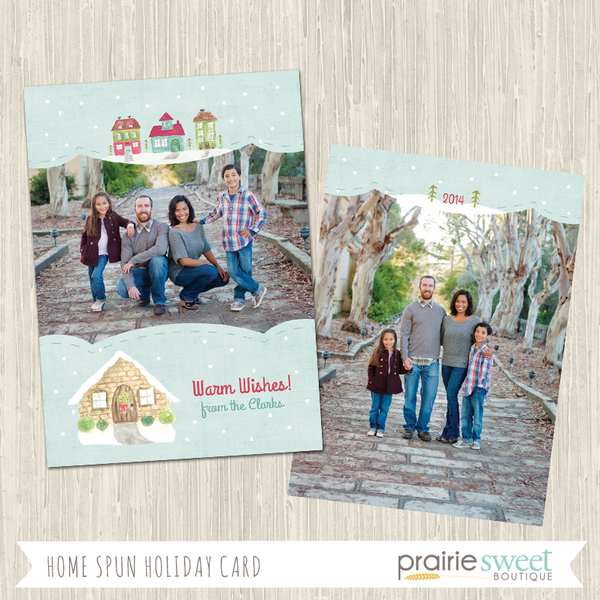 VILLAGE | Home Spun Holiday Card