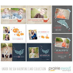 Under the Sea Valentine Card Collection