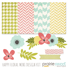 Happy Floral Mini Design Kit