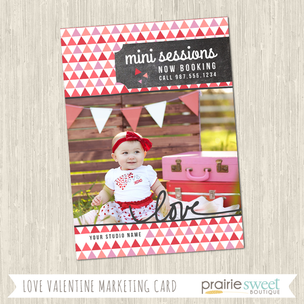 LOVE Valentine's Day Mini-Session Marketing Card Template