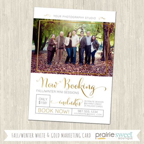 Fall/Winter Photography Marketing Card Template