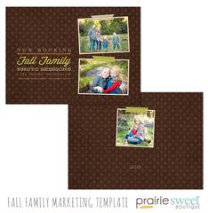 Fall Family Marketing Template