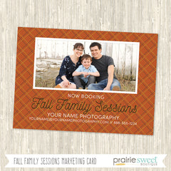 Fall Family Photography Marketing Card Template