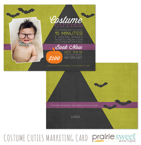 Halloween Costume Cuties Mini Session Marketing Template