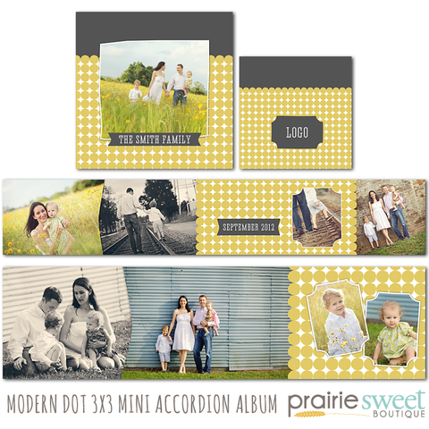 Modern Dot 3x3 Accordion Album