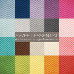 Sweet Essential Herringbone Digital Paper Collection
