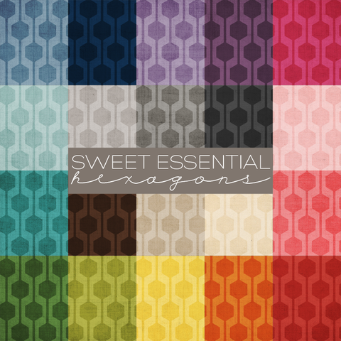 Sweet Essential Hexagons Digital Paper Collection