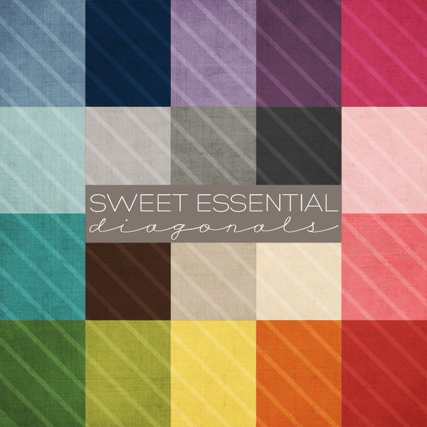 Sweet Essential Diagonals Digital Paper Collection