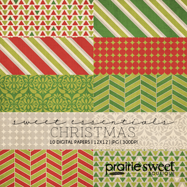 Christmas Sweet Essential Designer Series Digital Paper Collection
