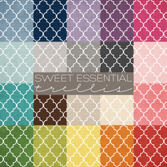 Sweet Essential Trellis Digital Paper Collection