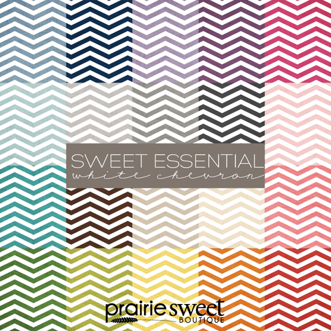 Sweet Essential White Chevron Digital Paper Collection