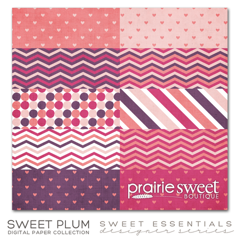 Sweet Plum Sweet Essential Designer Series Digital Paper Collection