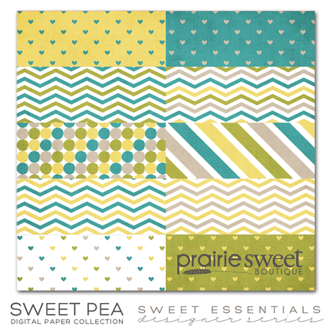 Sweet Pea Sweet Essential Designer Series Digital Paper Collection