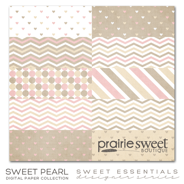 Sweet Pearl Sweet Essential Designer Series Digital Paper Collection