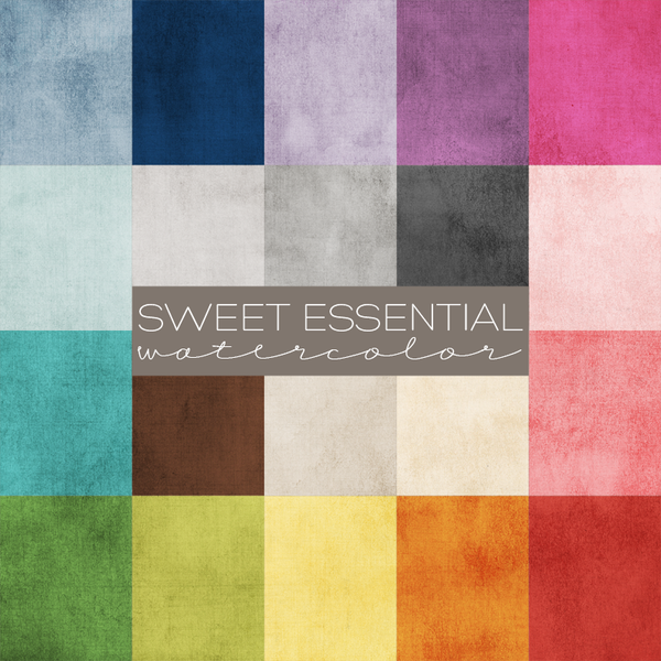 Sweet Essential Watercolor Digital Paper Collection