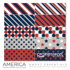 America Sweet Essential Designer Series Digital Paper Collection