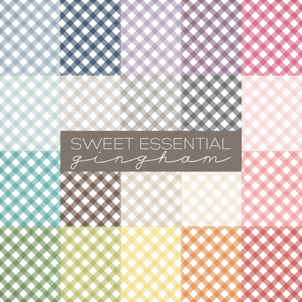 Sweet Essential Gingham Digital Paper Collection