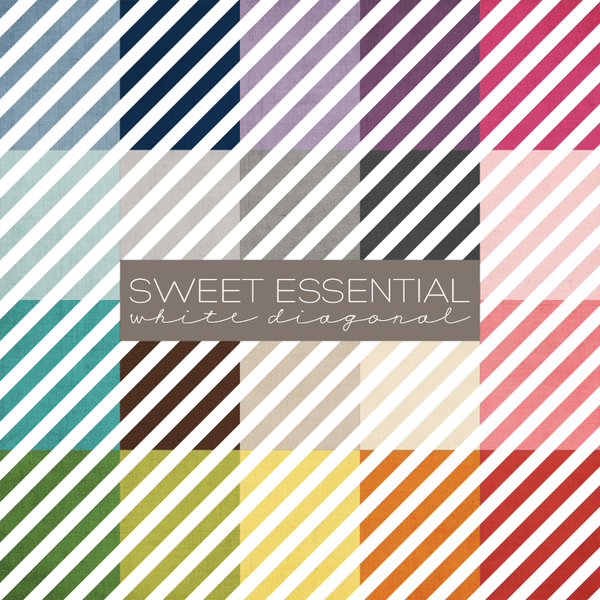 Sweet Essential White Diagonals Digital Paper Collection
