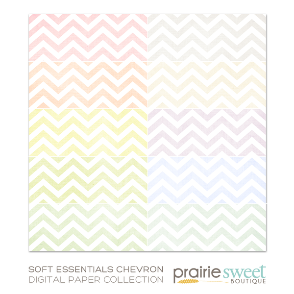 Soft Essential Chevron Digital Paper Collection