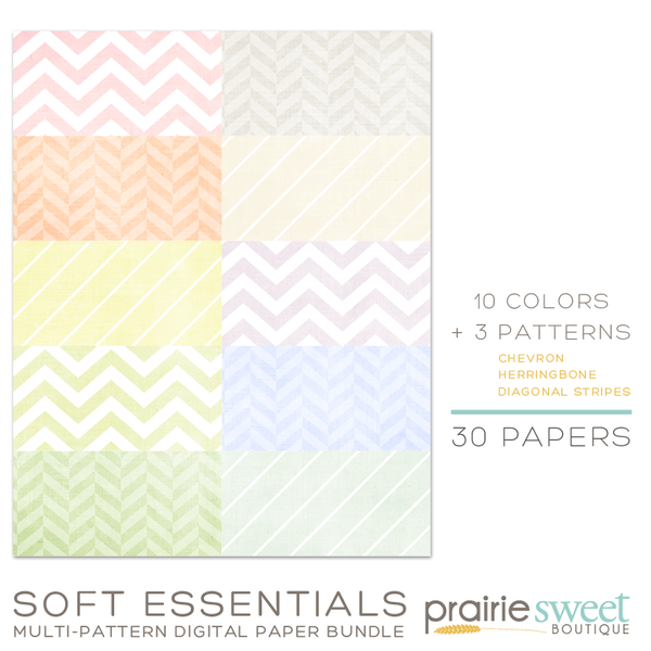 Soft Essentials Multi-Pattern Digital Paper Bundle