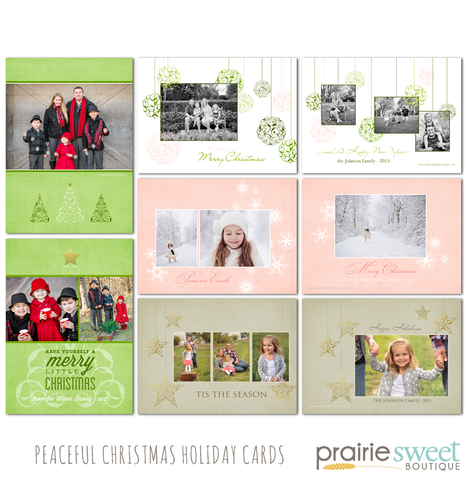 Peaceful Christmas Holiday Card Collection