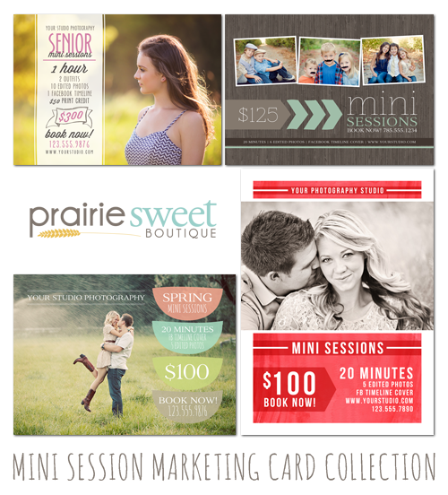 Mini Session Marketing Template Collection