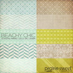 Beachy Chic Digital Paper Collection