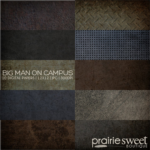 Big Man on Campus Digital Paper Collection