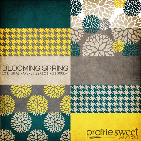 Blooming Spring Digital Paper Collection