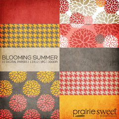 Blooming Summer Digital Paper Collection