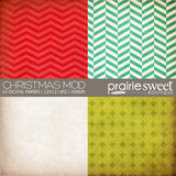 Christmas Mod Digital Paper Collection