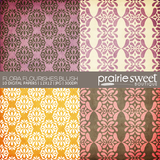 Flora Flourishes Blush Digital Paper Collection