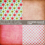 Little Gal Digital Paper Collection