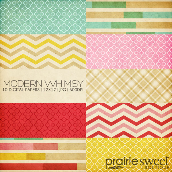 Modern Whimsy Digital Paper Collection
