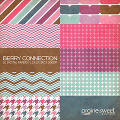 Berry Connection Digital Paper Collection