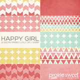Happy Girl Digital Paper Collection