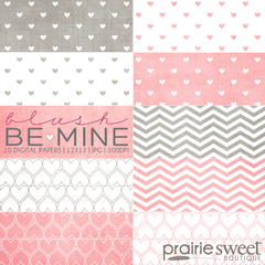 Be Mine Blush Digital Paper Collection