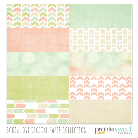 Bokeh Love Digital Paper Collection