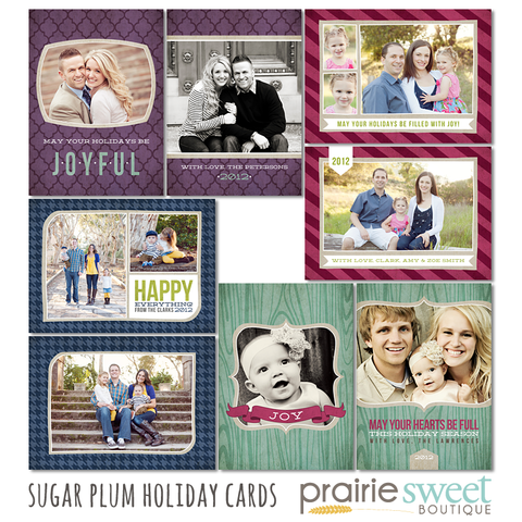 Sugar Plum Holiday Card Collection