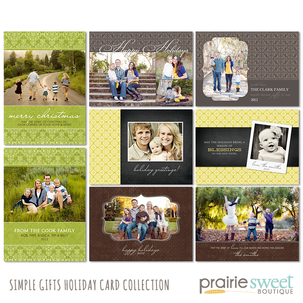 Simple Gifts Holiday Card Collection