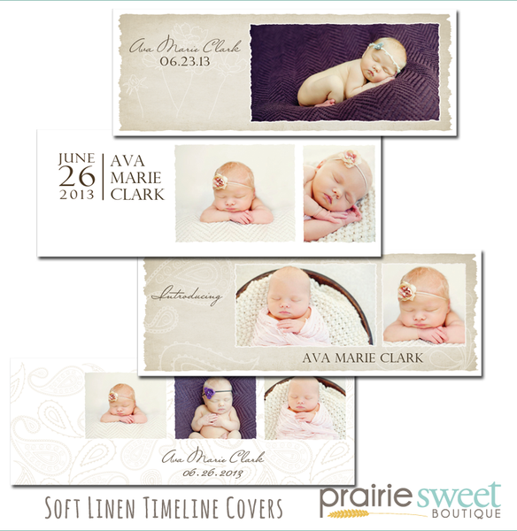 Soft Linen Facebook Timeline Covers