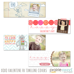 XOXO Valentine Facebook Timeline Covers