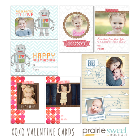 XOXO Valentine Card Collection