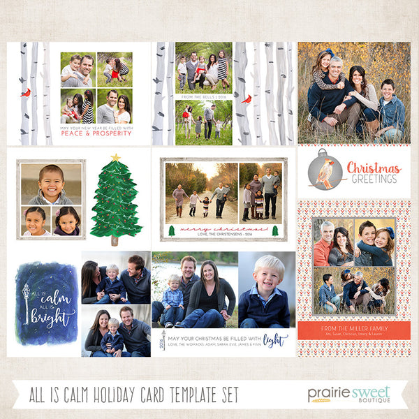 ALL IS CALM Holiday Card Collection