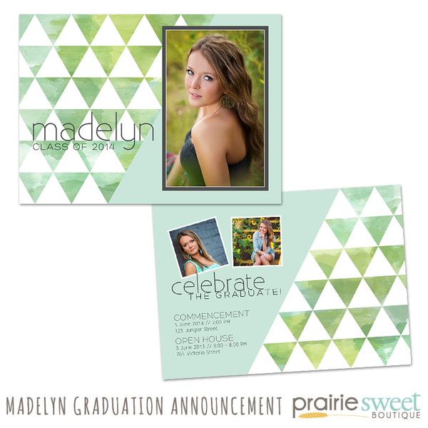 Madelyn Graduation Announcement