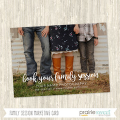 Family Sessions Marketing Card Template