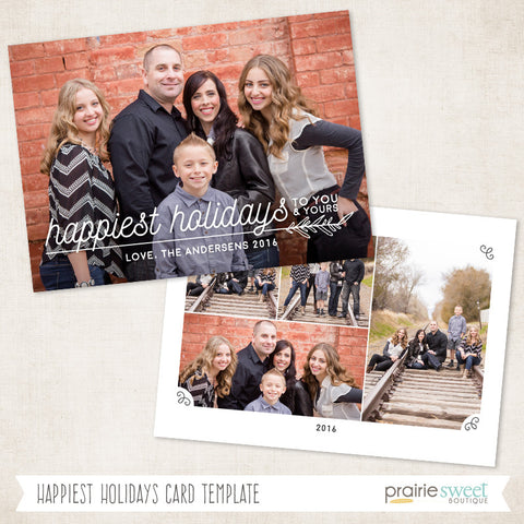 Happiest | Very Merry Holiday Card Template